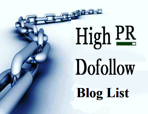 Top 50 High Page Rank Do-Follow Blog list to Get Natural Quality Backlinks
