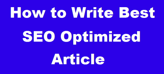 Write Complete SEO Optimized Post in WordPress Blog