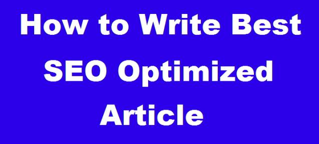 Write Complete SEO Optimized Post in WordPress Blog