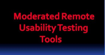 Moderated Remote Usability Testing Tools