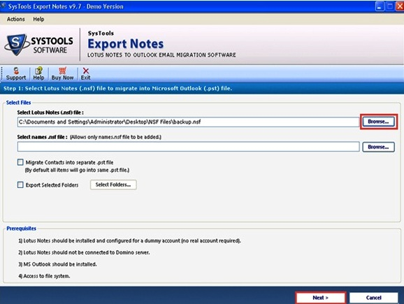 How to Open NSF File without Lotus Notes in Outlook