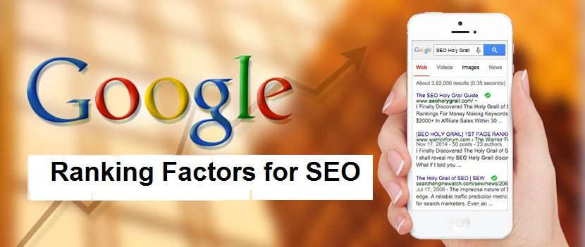 Top 20 Google Ranking Factors for SEO