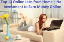 Top 13 Online Jobs from Home – No Investment to Earn Money Online
