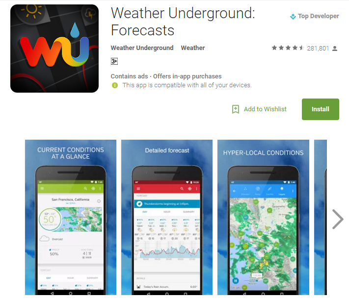 Top 10 Weather Android Apps to Use in 2017